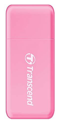 Transcend USB 3.0 SDHC/SDXC/microSDHC/SDXC Card Reader, TS-RDF5R (Pink)