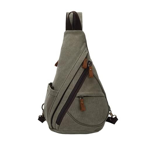 Unisex Sling Chest Rucksack Casual Crossbody Daypack Klein Und Mltipurpose Canvas Schultertasche Für Wandern Reisen Outdoor Damen Herren