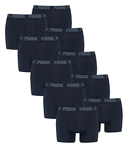 PUMA 10 ER Pack Boxer Boxershorts Men Pant Underwear Navy, Farben:321 - Navy, Größe Bekleidung:XXL