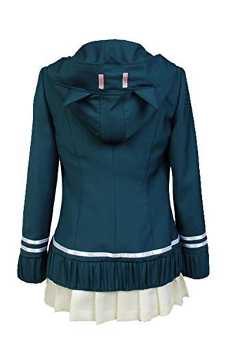 tianxinxishop Disfraz de Cosplay de Juego Japones para Mujer Uniforme de Escuela Secundaria Disfraz de Cosplay de Chiaki Nanami Conjunto Completo, S