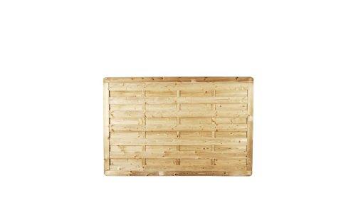 MEIN GARTEN VERSAND Sichtschutzzaun Holz Massive Vorgartenzäune Maß 180 x 120 cm (Breite x Höhe) aus Kiefer/Fichte Holz, druckimprägniert Bremen