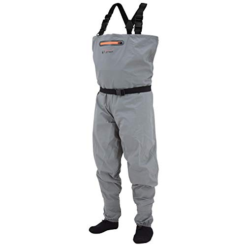 FROGG TOGGS Canyon II Breathable Stockingfoot Chest Wader, Gray, Size Medium