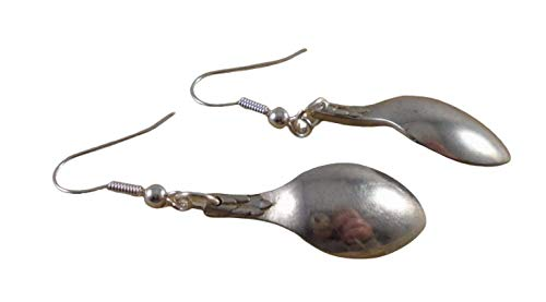Upcycled Silver Plated Sugar Tong Spoon Earrings