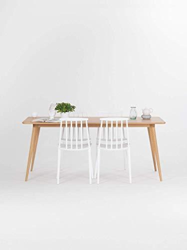 Klappbarer Esstisch ganz aus massivem Eichenholz, Funktionstisch, Küchentisch, Raumwunder