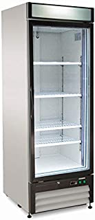 Chef's Exclusive CE319 Commercial Merchandiser Display Freezer 23 Cubic Feet One 1 Single Door Upright Reach in Sub Zero Frost Free with Adjustable Shelves Digital Controller, 27 Inch Wide, White