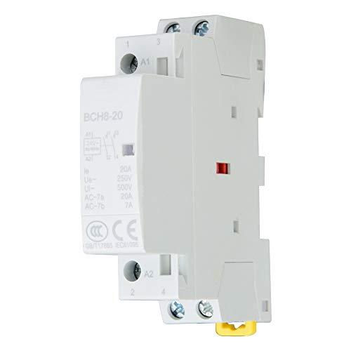 2P 2NO AC contactor 20A 24V 220V / 230V 50 / 60Hz Hogar Contactor AC Montaje en riel DIN(220V/230V)