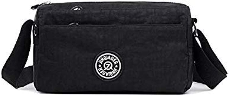 Small Messenger Bags for Women Waterproof Nylon Handbag Female Shoulder Bag Ladies Crossbody Bags Bolsa sac a Main Femme de Black