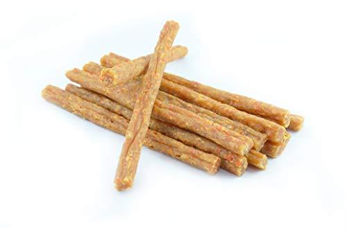 Maced hondensnack sticks van gevogelte met wortel 50 g, de wortel verzorgt in essentiële vitaminen A, B1, B2, B3, B6, C, E, H, K en mineralen Hundeleckerli pak van 10 (10 x 50 g)