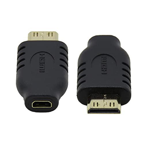 CY Micro HDMI tipo D hembra a Mini HDMI 1.4 macho tipo C adaptador convertidor