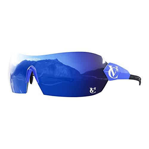 VeloChampion Hypersonic Sunglasses Bundle - Blauer Rahmen - Blauer Objektivrevolver - Blaues Revo Mirror-Hauptobjektiv + 2 zusätzliche Objektive, alle mit UV400-Schutz