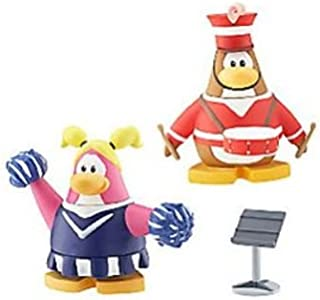 SPECIAL (LAST ONE) - Disney Club Penguin RARE MARCHING BAND MEMBER + CHEERLEADER and RARE MUSIC STAND - 2
