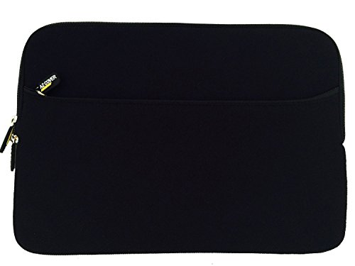 AZ-Cover 10.1-Inch Laptop Sleeve Case Bag (Black) With Pocket For Polaroid PMID1000/PMID1000B Google Android IceCream Sandwich Capacitive Screen 10.1 inch Internet Tablet + One Touchscreen Stylus Pen