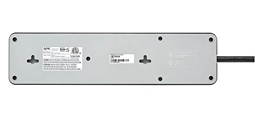APC 12-Outlet Surge Protector Power Strip 2160 Joules, SurgeArrest Home/Office (PH12), Black