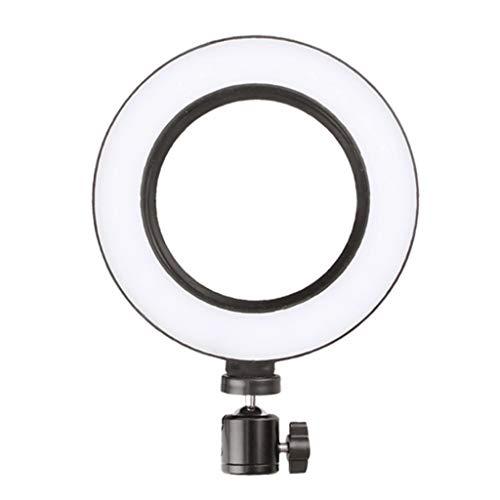 WYHM Escritorio Luz de Anillo de 10' con Soporte Telefónico, Maquillaje de Escritorio Regulable Selfie LED Linterna para la Grabación de Video de Transmisión en Vivo Universal (tamaño : 16cm/6.3in)