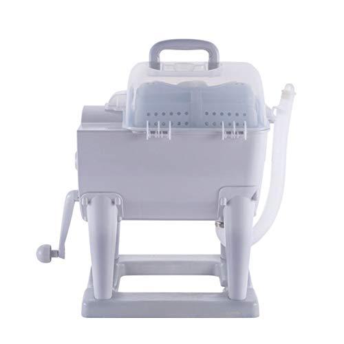 Tragbar Mini Waschmaschinen Manuelle Wäsche Handkurbel Trocken Drehen Kein Strom Nötig 4 Kg Waschkapazität - Für Wohnungen, Camping, Schlafsaal