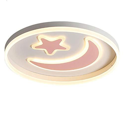 Moonstar Luminari Plafondlamp, plafondverlichting, woonkamerlamp, led-plafondlamp voor kinderen, baby's, slaapkamer, wit, roze, blauw, zwart, afstandsbediening, lamp, verlichting, lampparas