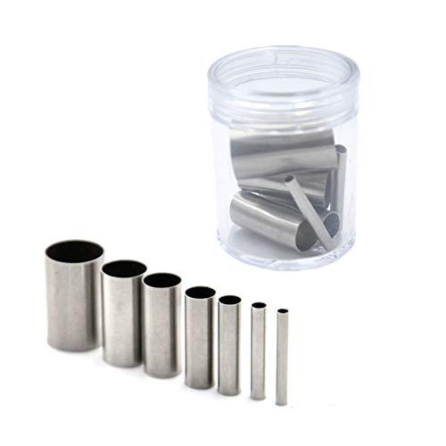 7-teiliges Ausstechformen-Set für Ton, Lochausstecher, Edelstahl, runde Kreisform, Mini-Ausstechformen, Backring, Stanzwerkzeug für Heimwerker, Polymerton, mit Aufbewahrungsbox