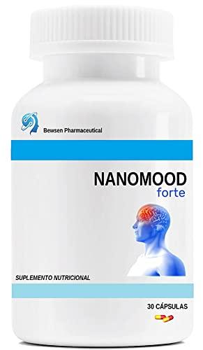 Nanomood Forte Bewsen | L-Triptófano 100mg | con L-Teanina y GABA | para el nerviosismo, el insomnio y el estado de ánimo positivo | 30 cápsulas