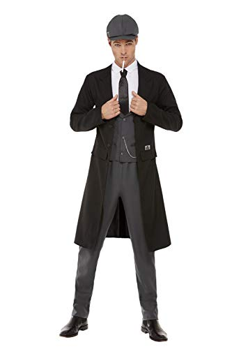 Smiffys Officially Licensed Peaky Blinders Shelby Mens Costume Disfraz oficial hombre, color negro, XL-Size 46'-48' (70034XL)