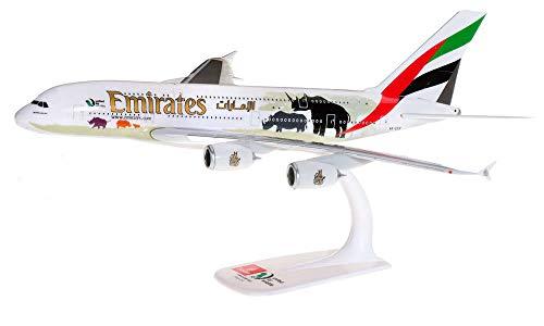 herpa 612180 Airbus A380 United for Wildlife Flugzeug in Miniatur zum Basteln, Sammeln und als Geschenk