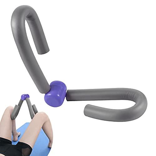 Muslo Muscular Ejercitador, Ejercitador Muslos, Thigh Toner de Gimnasio, Equipo de Deporte en hogar, Yoga Adelgazamiento Entrenamiento, para Abdominales, Ejercitador de Piernas y Brazos (Gris)