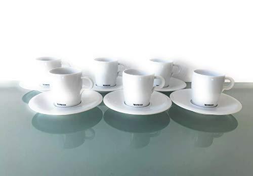 Nespresso Set 6 Lungo Tassen Untertassen und Löffel Classic Porzellan Kaffee