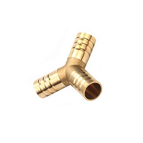 LRrui-Conector de Montaje Brass Empalmador de Tubo roscado, Forma Y 3 Way Manguera Adaptador de Acoplamiento de la lengüeta, de 4 mm-16 mm de Cobre de púas Connector, Ampliamente Utilizado