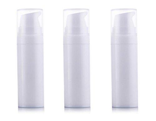 3PCS Airless Pumpe bottles-empty Tragbar Kunststoff Mini Bajonett creme Lotion Toner Kosmetik Toilettenartikel Liquid Aufbewahrung Container Jar Töpfen (weiß) 15ml