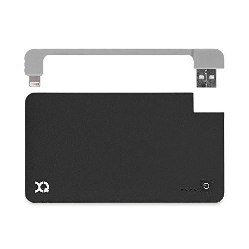 Xqisit externer Akku mit Lightning-Kabel für Smartphones (3000mAh)
