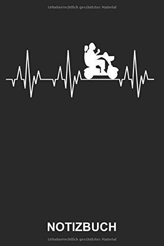 Notizbuch: Elektrischer Rollstuhl Behindert Rentner Altersheim Altenpfleger Senioren Lustig Witzig Herzschlag EKG | Notizbuch, Tagebuch, Notizheft, Schreibheft | ca. A5 mit Linien | 120 Seiten liniert