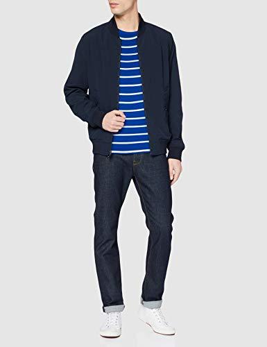 Tommy Hilfiger Stretch Slim Fit Tee T-Shirt de Sport Homme, Bleu, XX-Large