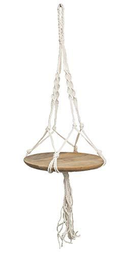 ASK Handicrafts bloemenampel hanglamp macramé planten hanger Fair Trade Natur 93cm