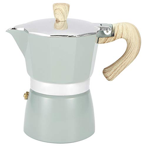Cafetière de cuisinière Cafetière octogonale en aluminium Bouilloire Espresso Moka Pot pour la maison Fournitures de cuisine à gaz Cuisinière électrique, Réchaud de camping(300ml)