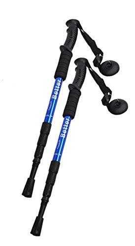 Par de bastones de senderismo antishock Nordic Walking telescópicos – Medida ajustable de 50 a 110 cm