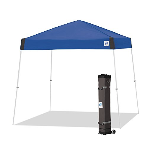 E-Z UP VS3WH12RB, 12' x 12', White Powder-Coated Steel Frame Vista Instant Shelter Canopy, 10 by 10', Royal Blue, 12 by 12'