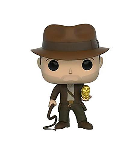 Funko Pop Raiders of The Lost Ark Kawaii Q Versión Figura De Anime Estatua De Indiana Jones Figuras De Acción De Vinilo Pop En Caja Juguete De 10 Cm, Colección De Decoración De Juguetes para Niños