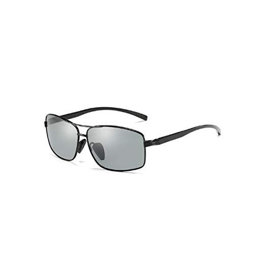 GQDZ Colore-cambiante Occhiali da Sole polarizzati Che Guida i vetri a Specchio Anti-riflesso e Donna Occhiali da Sole da Uomo Occhiali da Sole (Lenses Color : Black Frame)
