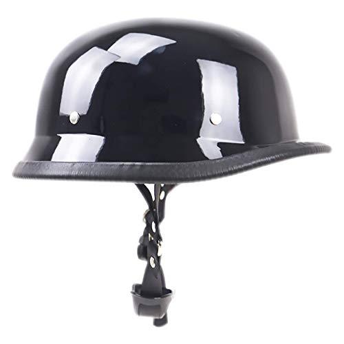 HYE-SPORT Medio Casco de Moda, Gorra de béisbol Retro Modelado Casco Abierto para Adultos Certificado Dot LQ - 001 54cm-62cm Medio Casco para Hombres y Mujeres