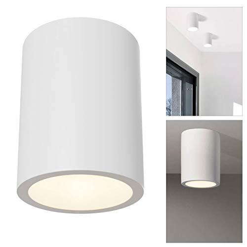 Plafón LED GU10 yeso foco cilindro techo luces salón cocina
