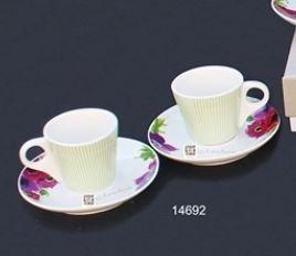 Set Claraluna 2 Tazzè Da caffè , Zuccheriera E Set Sale e Pepe In porcellana