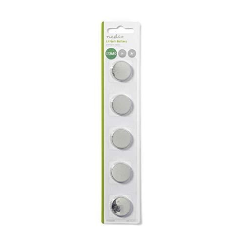 Batterie Lithio a Bottone Al Litio Cr2450 3 V (5 Pz)