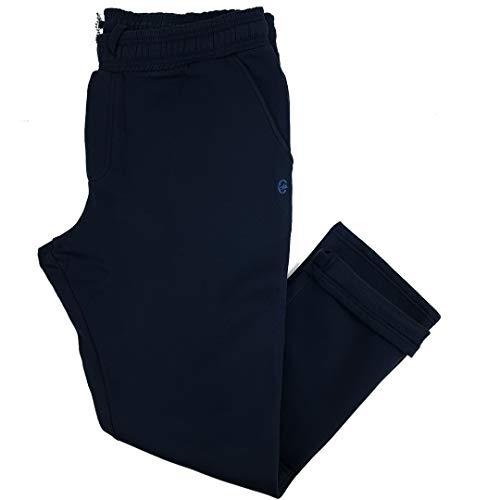 pantaloni tuta 5xl uomo Coveri Pantaloni Tuta Uomo Felpato Pesante Cotone Taglie Forti Blu Nero 3XL 4XL 5XL 6XL (6XL - Blu)