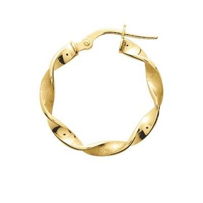 ULIANA-Anelli-Orecchini a cerchio da donna in oro giallo 9 carati, diametro 15 mm, spessore: 3 mm