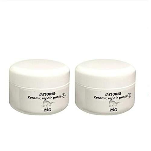 VFDGB Bañera Kit de reparación de baldosas de Porcelana grieta repare el Piso de cerámica Crema de reparación Pasta de hidromasaje y Ducha Azulejos Kit de Crack (B Type 25g)