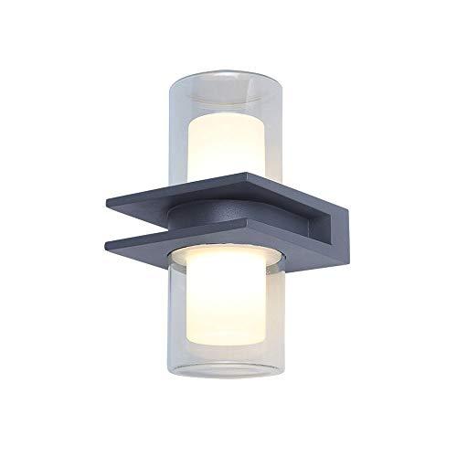 Luz de pared LED simple moderna IP65 IP65 Iluminación exterior a prueba de agua, Lámpara de pared para arriba y abajo Lámpara de pared de aluminio fundido a presión Linterna de montaje en pared para p