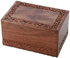 Solid Rosewood Sale Special service Price Border Engraving Handcarved - Cremation Urn Extra