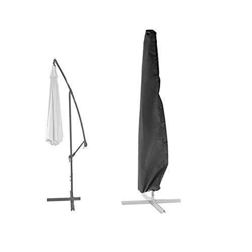 Loietnt Garden Parasol Cover, Outdoor Extra Large Waterproof Cantilever Umbrella Cover with Zipper Black 420D Oxford Fabric (Black Banana Umbrella Cover)