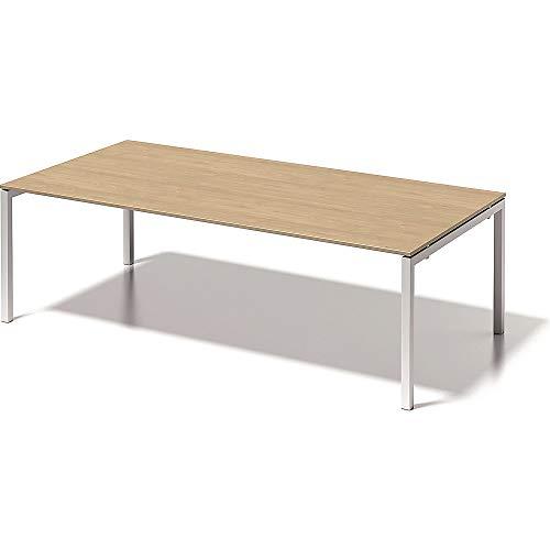 BISLEY Cito Chefarbeitsplatz/Konferenztisch, 740 mm höhenfixes U, H 19 x B 2400 x T 1200 mm, Metall, Mp396 Dekor Ahorn, Gestell Verkehrsweiß, 120 x...