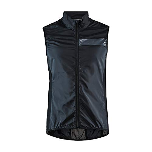 Craft Essence Light Wind Vest - Giacca da ciclismo da uomo, Uomo, 1908814-999000-4, Nero, S