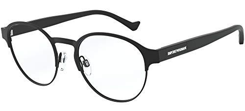 Emporio Armani Herren 0EA1097 Sonnenbrille, Matte Black, 53